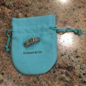 Tiffany & Co Mesh Heart Ring